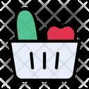 Vegetables Fruit Basket Icon
