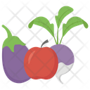 Fruits And Vegetable Healthy Food Natural Diet Icon