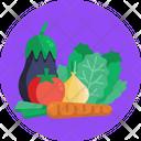 Salad Vegetables Tomatoes Icon
