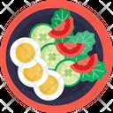 Salad Vegetables Eggs Icon