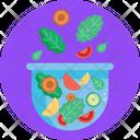 Salad Bowl Vegetables Icon