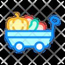 Cart Autumn Vegetables Icon