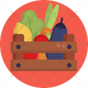 Food Delivery Vegetables Crate Icon