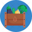 Salad Crate Vegetables Icon