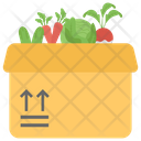 Vegetable Packing Vegetable Harvest Healthy Food Icon
