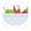 Vegetables Bowl Salad Icon