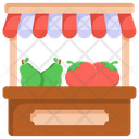 Food Stall Vegetables Booth Vegetables Kiosk Icon