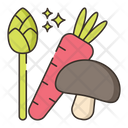 Vegetarian Mashroom Carrot Icon