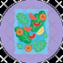 Salad Healthy Vegetarian Icon