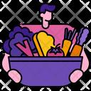 Vegetarian Food Vegetarian Food Icon