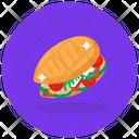 Veggies Burger Burger Junk Food Icon