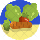 Carrot Tomatoes Vegetable Icon