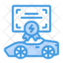 Vehicle Certificate Engineering Certificate Electric Icon