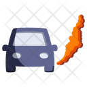 Global Warming Car Icon