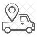 Vehicle Tracker Automobile Location Van Location Icon