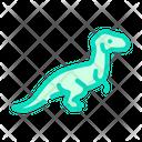 Velociraptor Dinosaur Color Icon