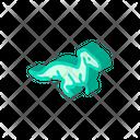 Velociraptor Dinosaur Isometric Icon