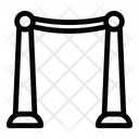 Velvet Ropes Entrance Poles Vip Entrance Icon