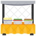 Vendor Food Street Stall Food Cart Icon