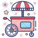 Street Stall Hawker Food Stand Icon