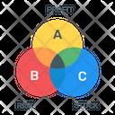 Overlapping Venn Diagram Venn Chart Icon