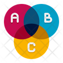 Venn Diagram Venn Chart Paint Color Icon