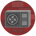Ventilation Cooler Wall Icon