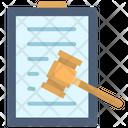 Verdict Hammer Legal Icon