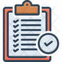 Verification Of Delivery List Clipboard Verification Icon