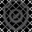 Verification Shield Cyber Shield Performance Shield Icon