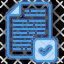 Verified Checkmark Complete File Icon