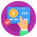 Bank Card Verified Bitcoin Card Digital Card Icon