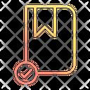 Rebbon Checkmark Book Icon