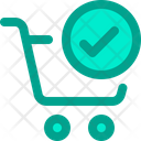 Verified Cart Verified Trolley Basket Icon