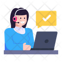 Customer Services Customer Support Helpline Icon