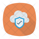 Verified Cloud Protection Cloud Icon