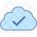 Cloud Checked Verified Icon