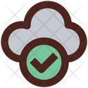 Verified Cloud Storage Cloud Accessible Cloud Storage Icon