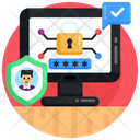 Password Protection Verified Cybersecurity Profile Password Icon