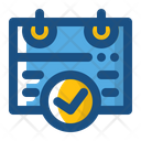 Verified Date Calendar Date Icon