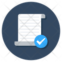 Verified Document Icon