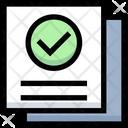 Verified Document Verified Data Verified Files Icon