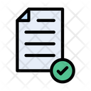 Verified Document File Document Icon
