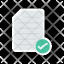Verified Document Tick Icon