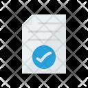 Document Tick Verified Icon
