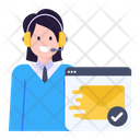 Web Mail Verified Email Customer Support Icon