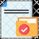 Verified File Verified Folder Verified Document Icon