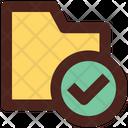Verified Folder Verified Files Verified Documents Icon