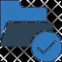 Verified Folder Folder Cerified Document Icon