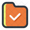 Verified Folder Mark List Icon